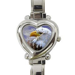 Bald Eagle Heart Italian Charm Watch  by Siebenhuehner