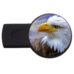 Bald Eagle 4gb Usb Flash Drive (round) by Siebenhuehner