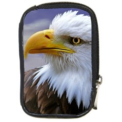Bald Eagle Compact Camera Leather Case by Siebenhuehner