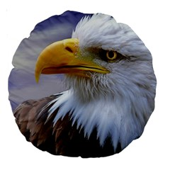 Bald Eagle 18  Premium Round Cushion  by Siebenhuehner