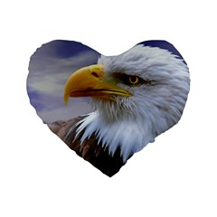 Bald Eagle 16  Premium Heart Shape Cushion  by Siebenhuehner