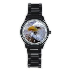 Bald Eagle Sport Metal Watch (black) by Siebenhuehner