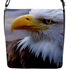 Bald Eagle Flap Closure Messenger Bag (small) by Siebenhuehner