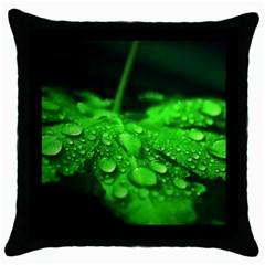 Waterdrops Black Throw Pillow Case by Siebenhuehner