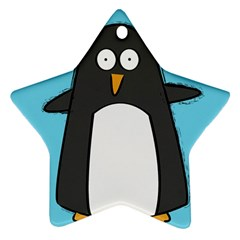 Hello Penguin Star Ornament (two Sides) by PaolAllen