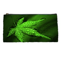 Leaf With Drops Pencil Case by Siebenhuehner