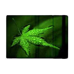 Leaf With Drops Apple Ipad Mini Flip Case by Siebenhuehner