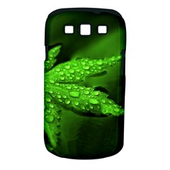 Leaf With Drops Samsung Galaxy S Iii Classic Hardshell Case (pc+silicone) by Siebenhuehner