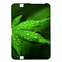 Leaf With Drops Kindle Fire Hd 8 9  Hardshell Case by Siebenhuehner