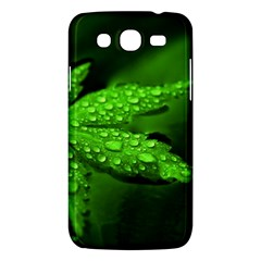 Leaf With Drops Samsung Galaxy Mega 5 8 I9152 Hardshell Case  by Siebenhuehner