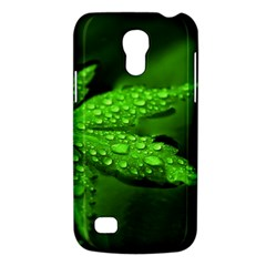 Leaf With Drops Samsung Galaxy S4 Mini Hardshell Case