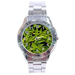 Bamboo Stainless Steel Watch (men s) by Siebenhuehner