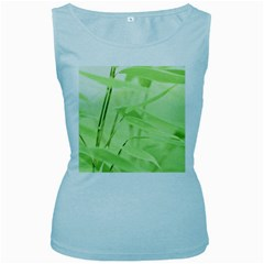 Bamboo Womens  Tank Top (Baby Blue) by Siebenhuehner