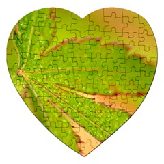 Leaf Jigsaw Puzzle (heart)