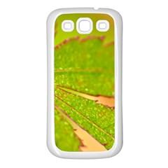 Leaf Samsung Galaxy S3 Back Case (white)