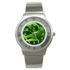 Bamboo Stainless Steel Watch (unisex) by Siebenhuehner