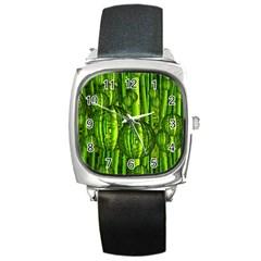 Magic Balls Square Leather Watch by Siebenhuehner