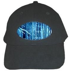 Blue Bamboo Black Baseball Cap by Siebenhuehner