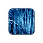 Blue Bamboo Drink Coasters 4 Pack (Square) Front
