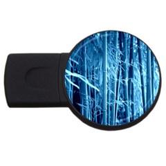 Blue Bamboo 4gb Usb Flash Drive (round) by Siebenhuehner