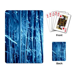 Blue Bamboo Playing Cards Single Design by Siebenhuehner