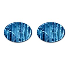 Blue Bamboo Cufflinks (oval) by Siebenhuehner