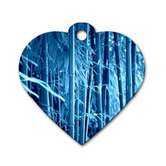 Blue Bamboo Dog Tag Heart (one Sided)  by Siebenhuehner
