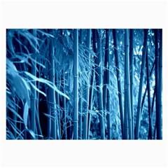 Blue Bamboo Glasses Cloth (large, Two Sided) by Siebenhuehner