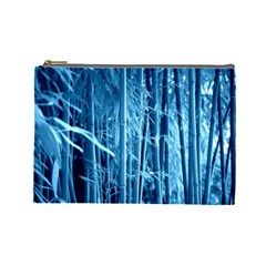 Blue Bamboo Cosmetic Bag (large) by Siebenhuehner