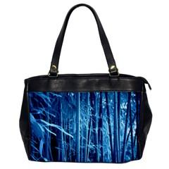 Blue Bamboo Oversize Office Handbag (one Side) by Siebenhuehner