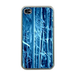 Blue Bamboo Apple Iphone 4 Case (clear) by Siebenhuehner