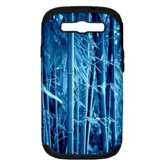 Blue Bamboo Samsung Galaxy S Iii Hardshell Case (pc+silicone) by Siebenhuehner