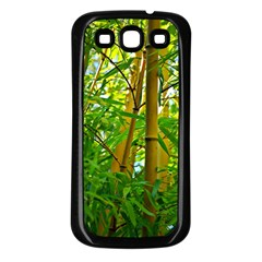 Bamboo Samsung Galaxy S3 Back Case (black) by Siebenhuehner