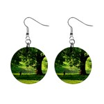Trees Mini Button Earrings Front