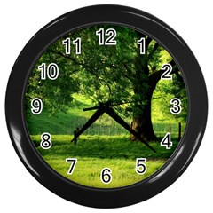 Trees Wall Clock (black) by Siebenhuehner