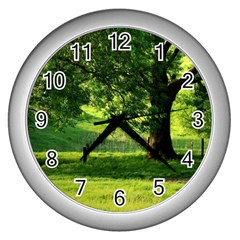 Trees Wall Clock (silver)