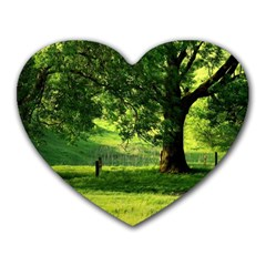 Trees Mouse Pad (heart) by Siebenhuehner
