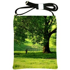 Trees Shoulder Sling Bag by Siebenhuehner