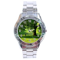 Trees Stainless Steel Watch (men s) by Siebenhuehner