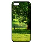 Trees Apple iPhone 5 Seamless Case (Black) Front