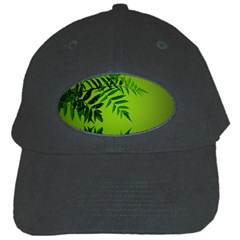 Leaf Black Baseball Cap