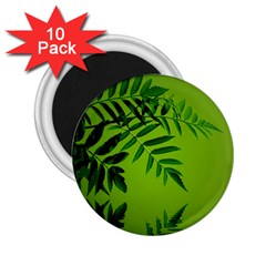 Leaf 2 25  Button Magnet (10 Pack) by Siebenhuehner