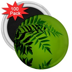 Leaf 3  Button Magnet (100 Pack) by Siebenhuehner