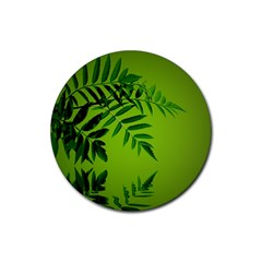 Leaf Drink Coasters 4 Pack (round) by Siebenhuehner