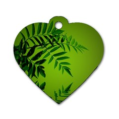 Leaf Dog Tag Heart (one Sided)  by Siebenhuehner