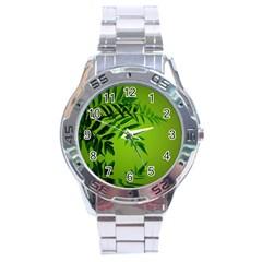 Leaf Stainless Steel Watch (men s) by Siebenhuehner