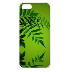 Leaf Apple Iphone 5 Seamless Case (white) by Siebenhuehner