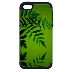 Leaf Apple Iphone 5 Hardshell Case (pc+silicone) by Siebenhuehner