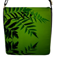 Leaf Flap Closure Messenger Bag (small) by Siebenhuehner
