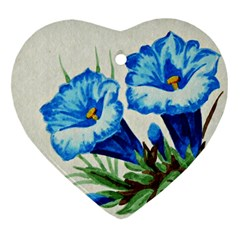 Enzian Heart Ornament (two Sides)